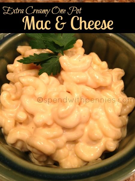 Macaroni and Cheese- , creamy and cheesy stove-top recipe made in one pot!