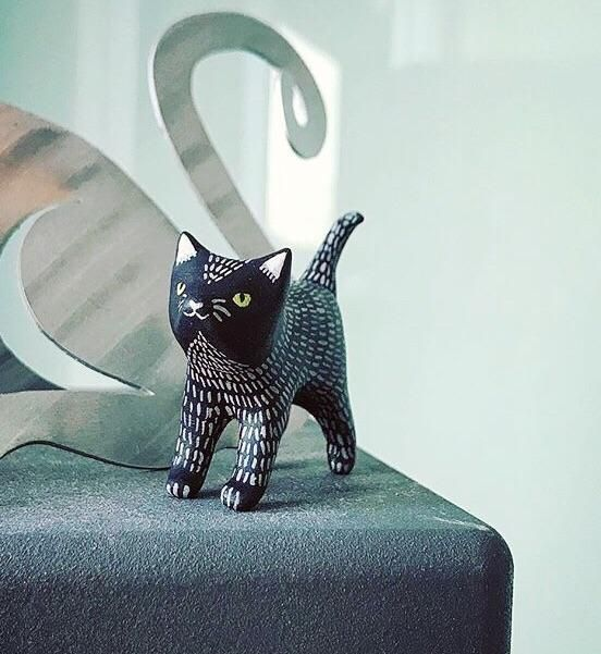 black cat polymer clay 1.5 inches http://ift.tt/2y8AMbK