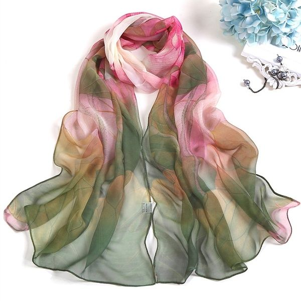 Women Elegant Scarf,Ladies Fashion Floral Print Soft Shawl Wraps Long Scarf Scarves