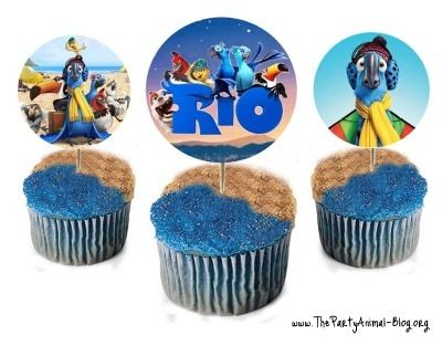 Rio Birthday Party Theme | ThePartyAnimal-Blog...free cupcake toppers!!