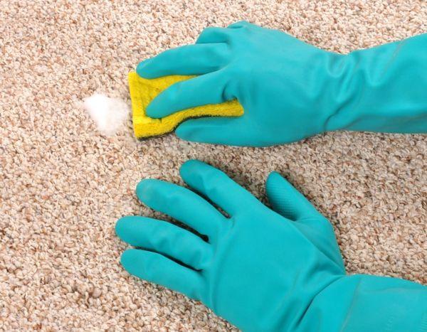 richtig teppichflecken reinigen