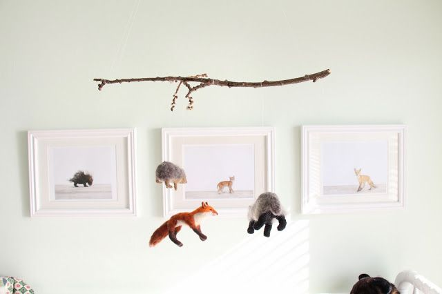 Woodland Themed Nursery: Felted Mobile