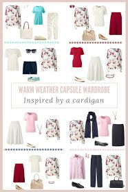 How to build a Warm-Weather Capsule Wardrobe - The Burgundy Floral Cardigan