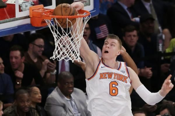 Tim Hardaway Jr. hit the shot to put his New York Knicks up four with less than a minute to play against the visiting Utah Jazz.
