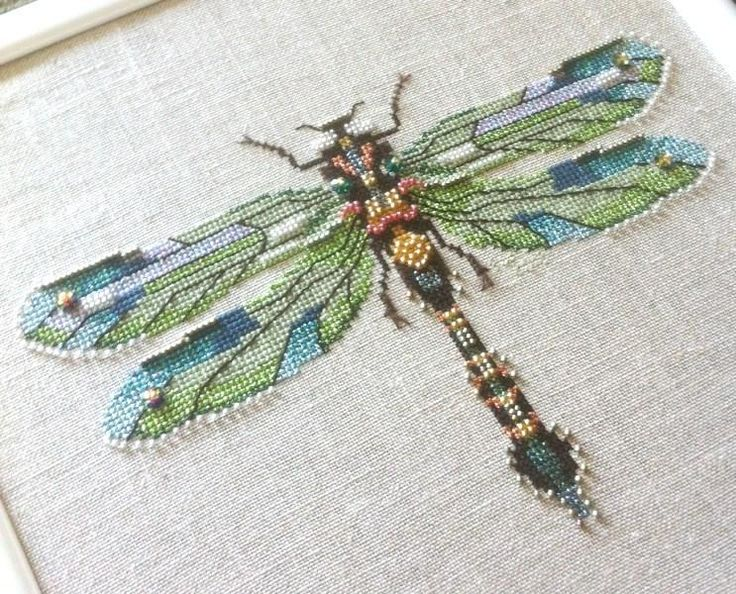 Nora Corbett's Emerald Dragonfly  To purchase the pattern http://www.abcstitch.com/designers_php/designers.php?category=Nora%20Corbett%20Designs