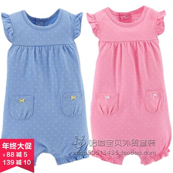 Ползунки, комбинезоны из Китая :: Внешней торговли детей одежда Одежда новорожденного, чистый хлопок летние платья baby onesies для мужчин и женщин одежда без рукавов шорты комбинезон.