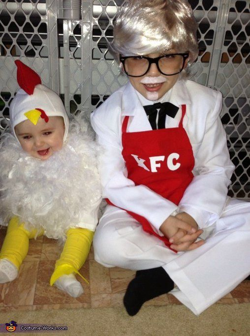 Pin for Later: Win Halloween With These 41 Sibling Costume Ideas Colonel Sanders and a Chicken