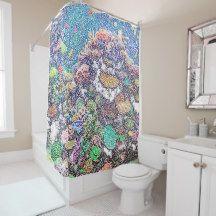 Ocean Coral Shower Curtain