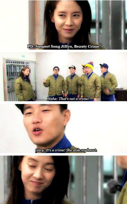 Running Man Ep.175 ♡ // Gary and Jihyo // Monday Couple Moment .. beauty crime :p
