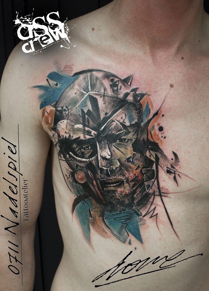 Russell Crowe from movie Gladiator.. Done about January 15' in 0711 Nadelspiel Tattooatelier, Stuttgart, Germany.. With #starbritecolors. ✅Facebook: https://www.facebook.com/Dronart ✅Instagram: https://www.instagram.com/GeorgeDrone ✅Website: www.dronart.gr