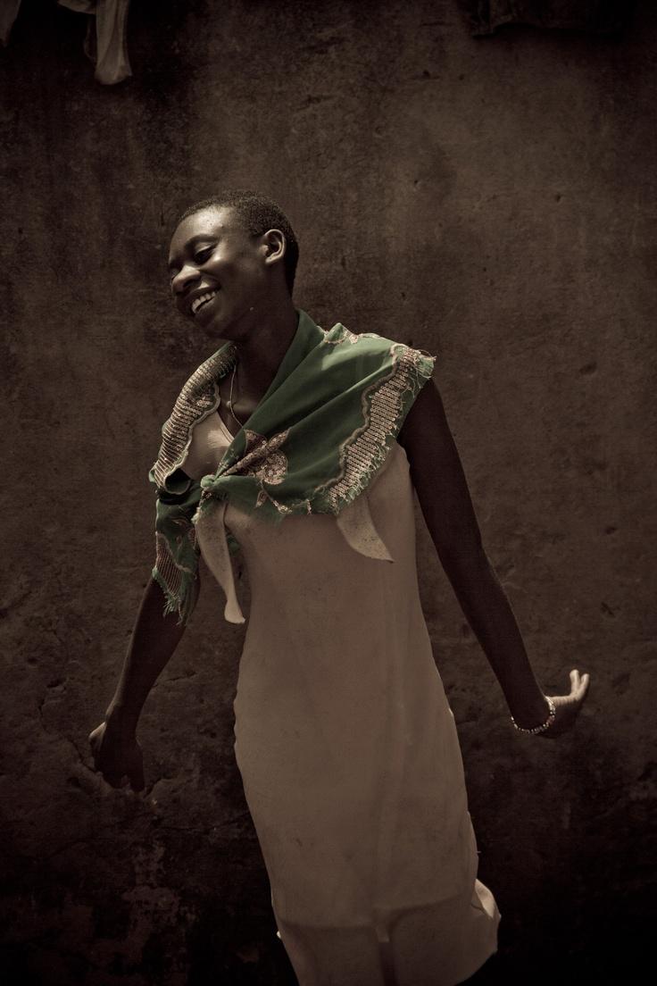 Evonne, dancing her beautiful dance in Kampala, UGANDA