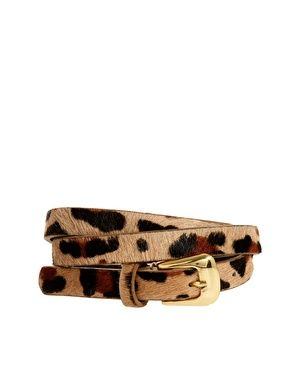 Warehouse Skinny Animal Print Belt, a really beautiful accessory for making an outfit complete