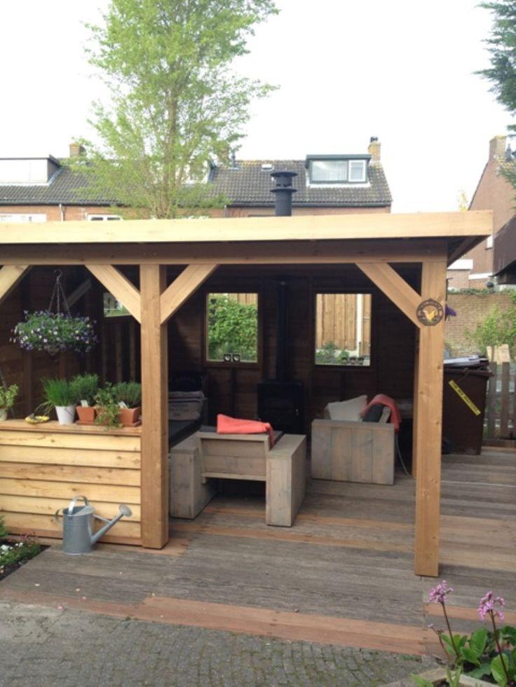 17 best images about overkappingen pergola 39 s en carport on pinterest outdoor living covered - Hout pergola dekking ...