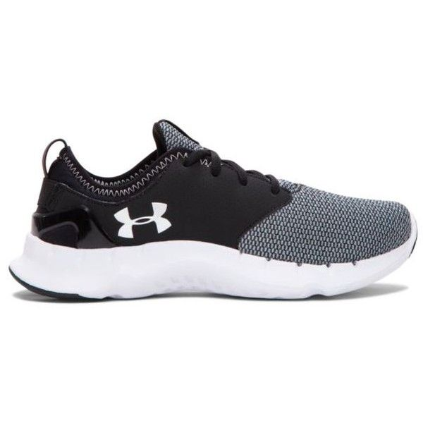 under armour running shoes black and white. under armour aluminum womens flow solid running shoe - women\u0027s (100 cad) ❤ liked shoes black and white f