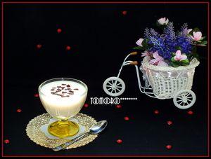Молочный ванильный кисель с шоколадной стружкой