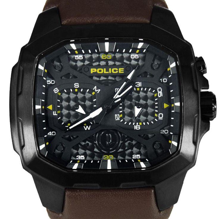 Chronograph-Divers.com - PL13929JSB/02A Police Challenger Quartz Brown Leather Strap Mens Watch, $189.00 (http://www.chronograph-divers.com/pl13929jsb-02a/)