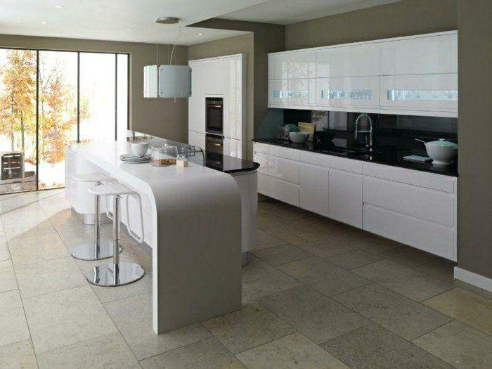 33 best modèle de cuisine images on Pinterest Kitchen white - meuble de cuisine gris anthracite