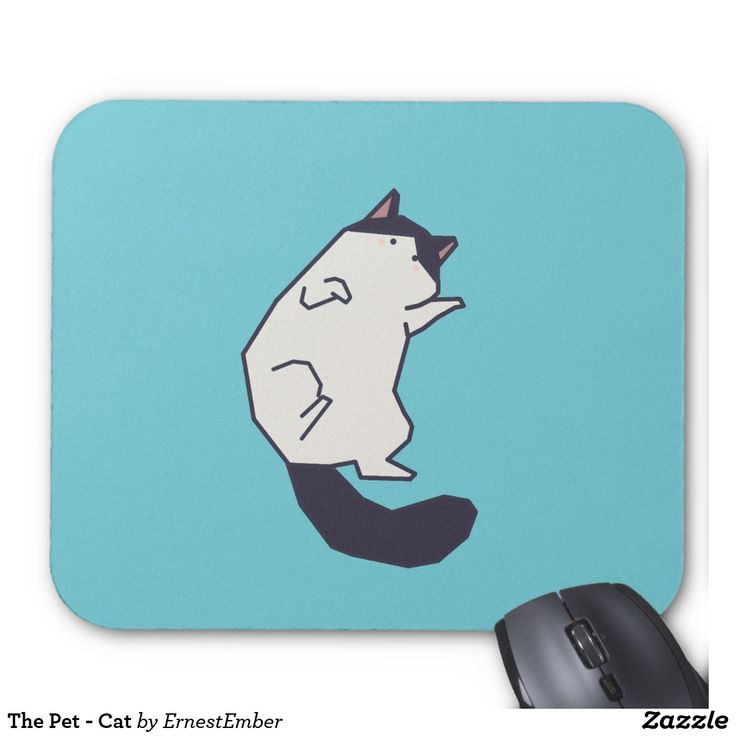 The Pet - Cat Mouse Pad  #kitten #kitty #cat #cute #colorful #animal #pet #minimal #art #illustration #zazzle #society6 #threadless #teespring #teepublic #graphicdesign #minimalism