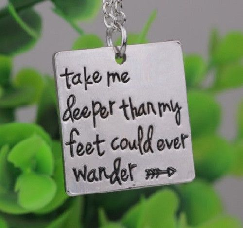 $21.95- $10.95 Etched Oceans Christian Song Lyrics Pendant Necklace This wonderful custom designed necklace is MUST HAVE! Designed with premium high quality material, It would make a special gift for