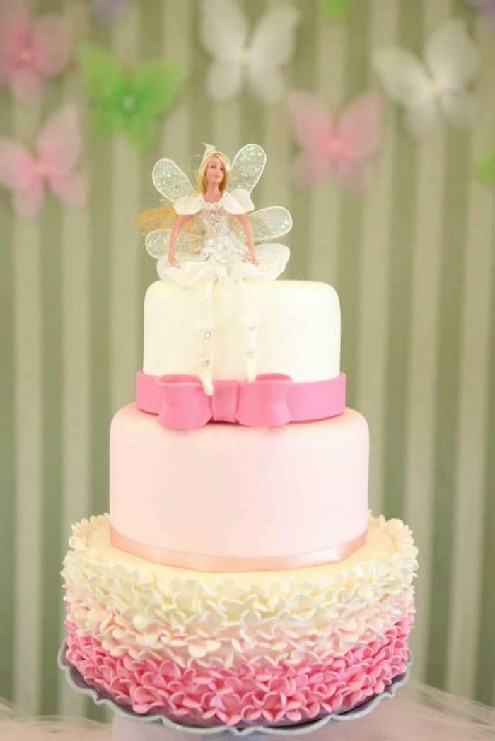 Fairy Garden festa de aniversário através de Kara idéias do partido KarasPartyIdeas.com Cake, suprimentos, cupcakes, favores, receitas, tutoriais e muito mais!  #fairies #fairyparty #fairygarden #fairygardenparty (6)