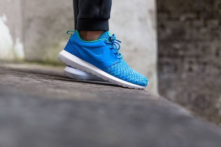 timeless design 96adf a13bb Nike Roshe Flyknit Azules