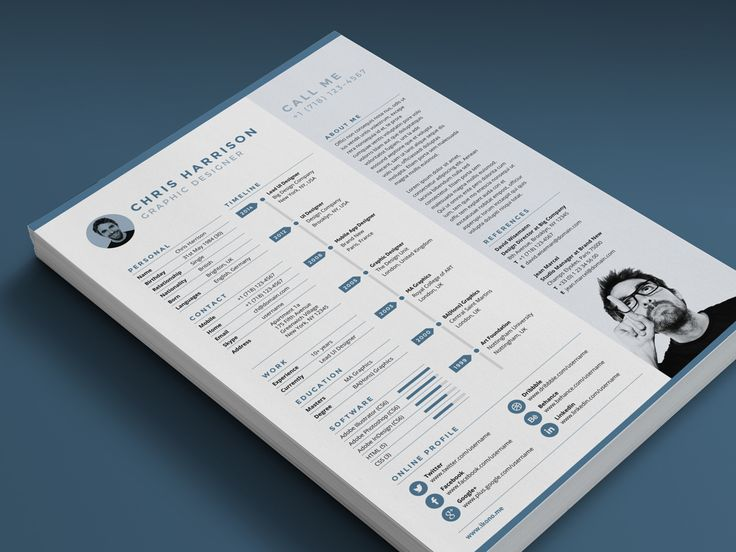 122 best Creative Resume Template images on Pinterest Creative - adobe indesign resume template