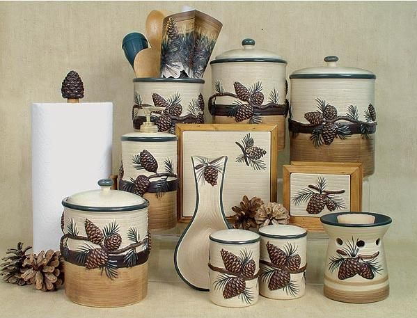 Pine Cone Lodge Kitchen Counter Set.All in one place.
