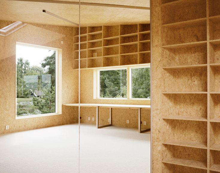 OSB walls & built-in
