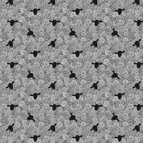 Ditsy Sheep Fabric By Allknitlong On Spoonflower