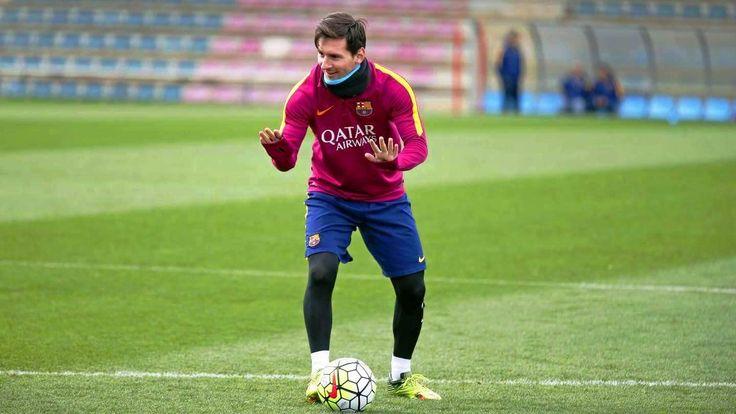 Messi haciendo magia en los entrenamientos y en la TV (vídeo)