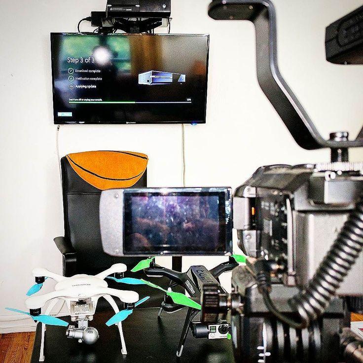 droneXfactor Drone News Set. Drone News coming to YouTube: droneXfactor today. . . . . . . #NYC5BDM #filmset #dronenews #dronebuzz #drone #about #panasonic #cameras #xbox #youtubers #tripod #tv #ghostdrone2 #vr #3drsolopilots #3dprinting #news #breakingnews #autelrobotics #yuneec