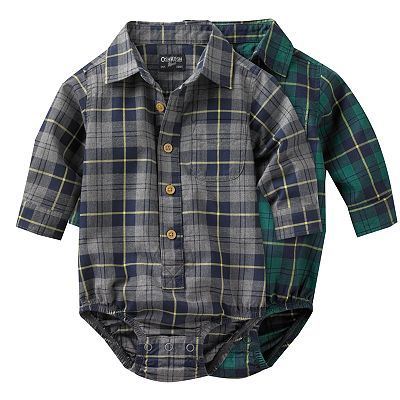 OshKosh B'gosh Plaid Flannel Bodysuit - Baby
