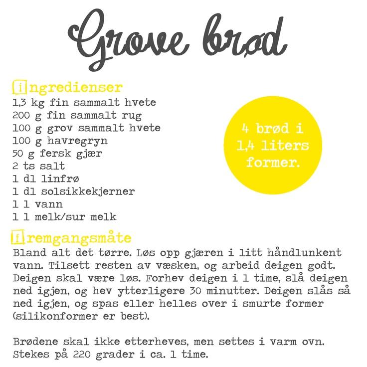 GodTid: Oppskrift: Grove brød