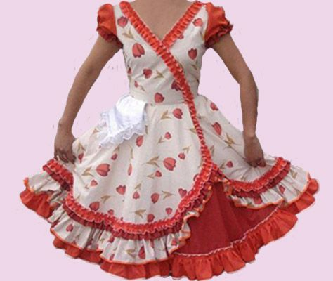 Huasa chilena, Vestidos de china - Infantil