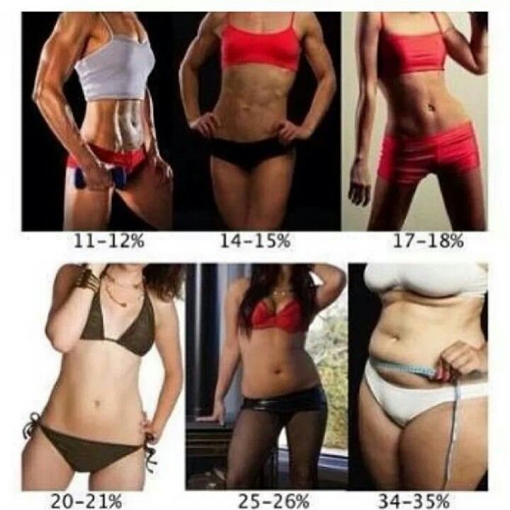 What body fat percentage looks like on a real body. Which ...