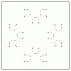 9 piece Jigsaw Template by Bird | Crafts - ClipArt Best - ClipArt Best