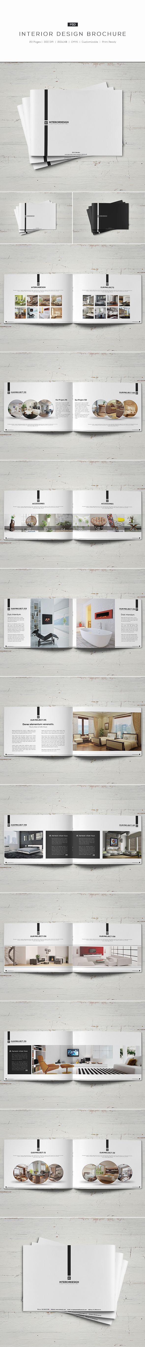 Interior Design Brochure2 Different Colors:- White- BlackDetails:- 20 pages- Easy to modify- CMYK- 300 DPI- 210mm x 148mm- Print ready- Layered PSDFonts:fontfabric.com/nexa-free-fontgoogle.com/fonts/specimen/Open+Sansgoogle.com/font…