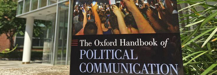 Oxford has published the hardcover edition of the Oxford Handbook of Political Communication.