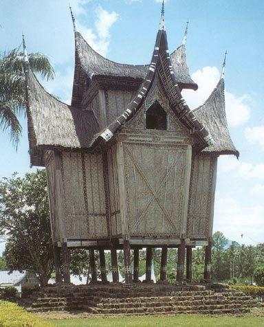 Traditional house of Minangkabau, Sumatra Indonesia