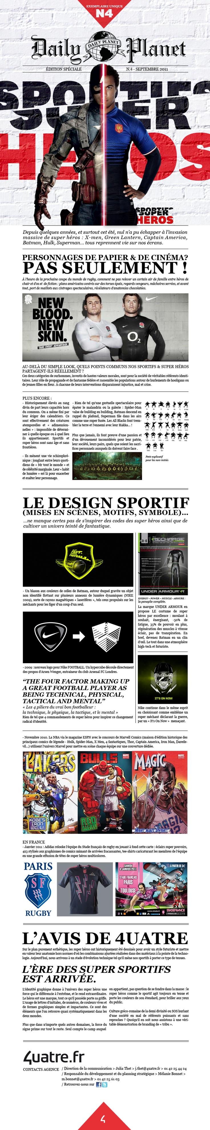 """Exemplaire Unique #4 - """"Sportifs et Super Héros"""""""
