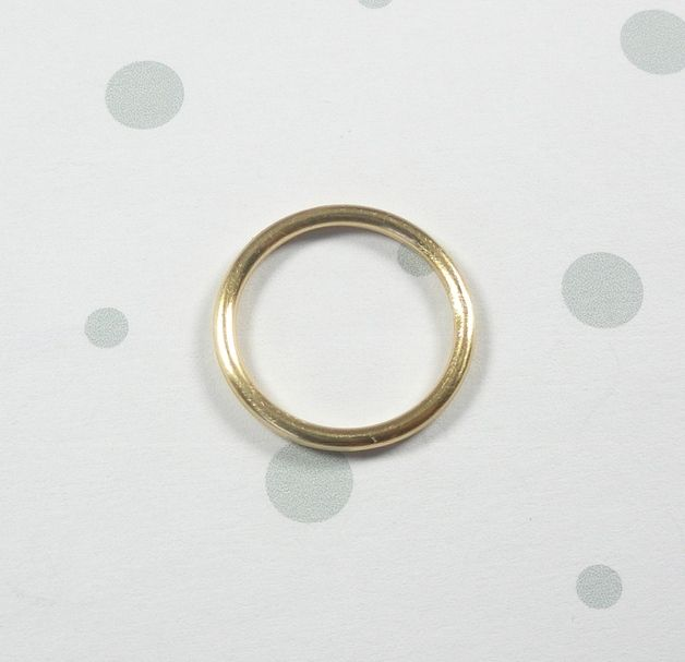 Basic Ring, Vorsteckring Gold Fill