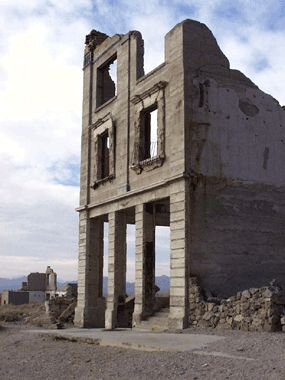Rhyolite is one of the best preserved ghost towns in the western US.