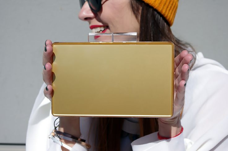 @Urania Gazelli #clutch as worn on #lagrecejaime.com #supportgreekfashion