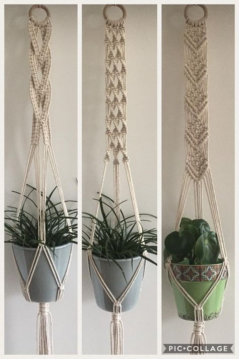 Macrame plant pendant, ivory white, wall hanging, wall plant pendant, hanging planter, boho wall decor, Macrame, plant holder, Christmas gift – Patricia Wilson
