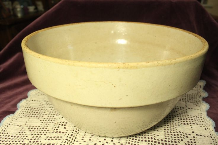 Antique Yellowware Yellow Ware, Stone Ware, Pottery Mixing Bowl, 1800s Victorian Kitchen Bowl, Primitive Mixing Bowl, Farmhouse Bowl by HeartKeys on Etsy