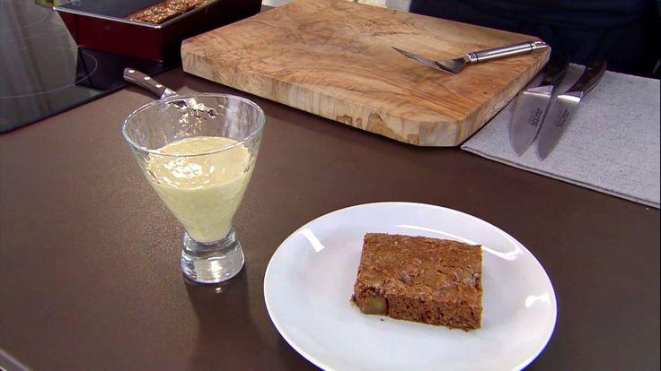 Brownie de frutas secas con natillas de plátano - Paso 10
