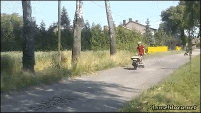 Motorized Wheelbarrow Boarding