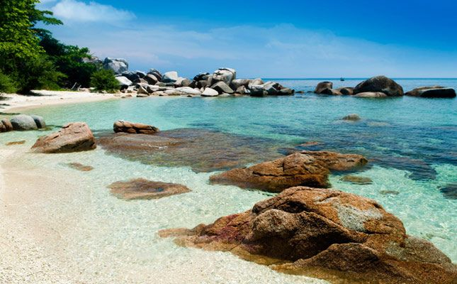 Crystal clear waters on the Perhentian island Malaysia