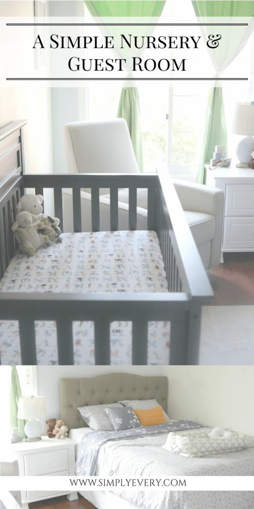 nursery & guest room, nursery guest room combo, guest room inspo, guest room ideas, nursery ideas, simple nursery, simple guest room, gray nursery, home decor, room reno, room renovation ideas,
