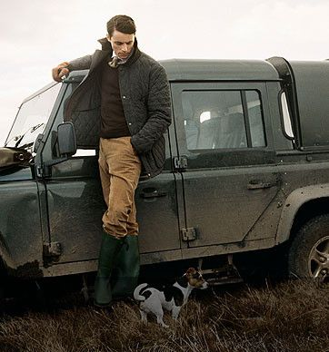 Hunting clothes (via allmywreckedupfriends)  THE BOOTS. Photos like this of M. Goode are nearly always courtesy of his ads for Hackett, which is where you buy your clothes if you want to look like the most English Englishman of all time.